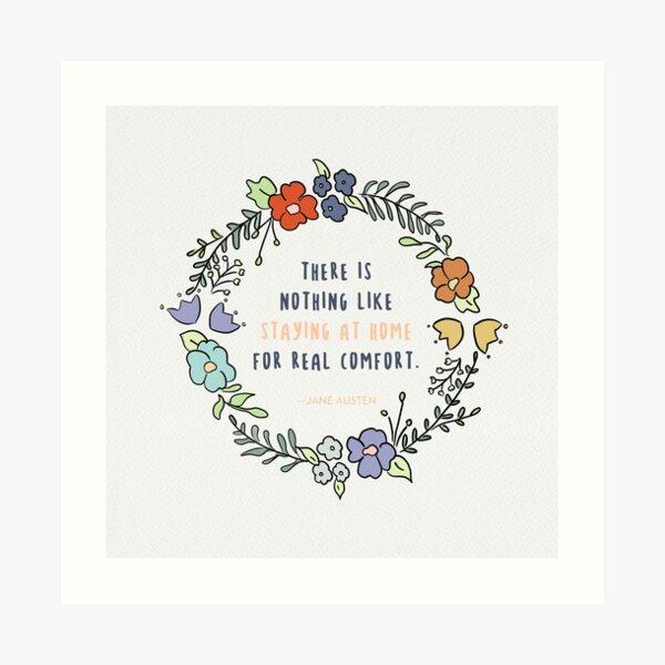 Jane Austen quote / Cute quotes, Reading quotes, Happy Quotes, Wise Quotes Art Print