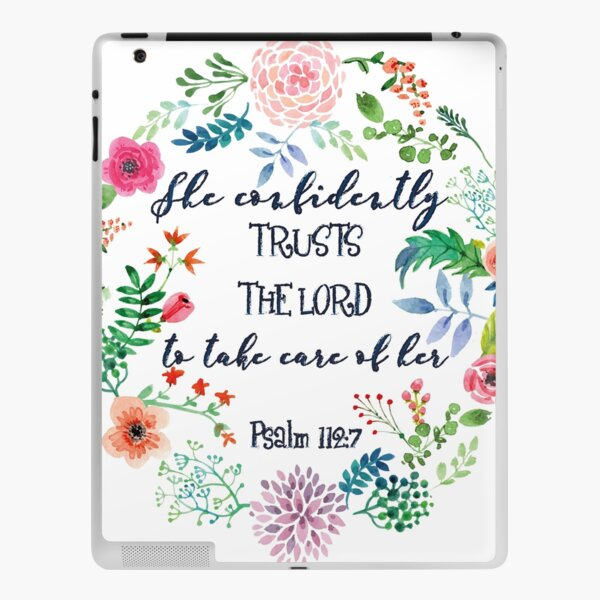 Psalm 112:7 iPad Skin