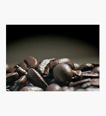 Coffee Beans Macro Photographic Print