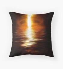 Flame On The Water Throw Pillow