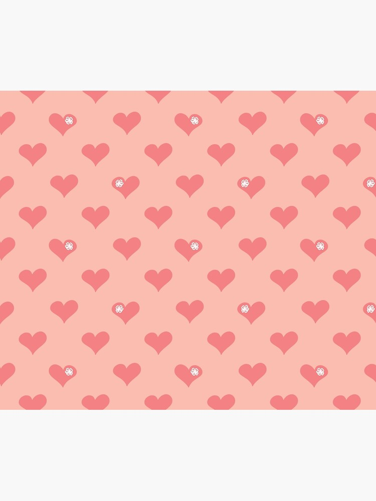 Coral Pink Aloha Love Hearts on Pink by podartist