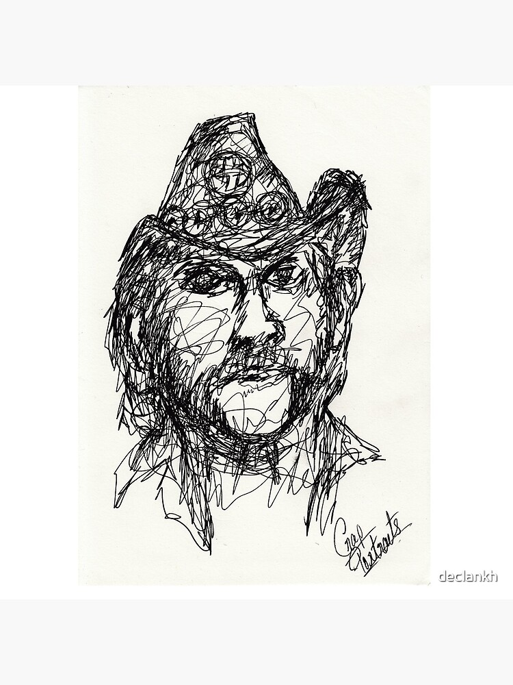 Lemmy de Motorhead - Dibujo de Monoline de declankh