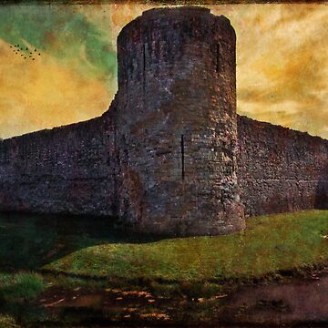 Pevensey Castle Ruins by ChrisLord