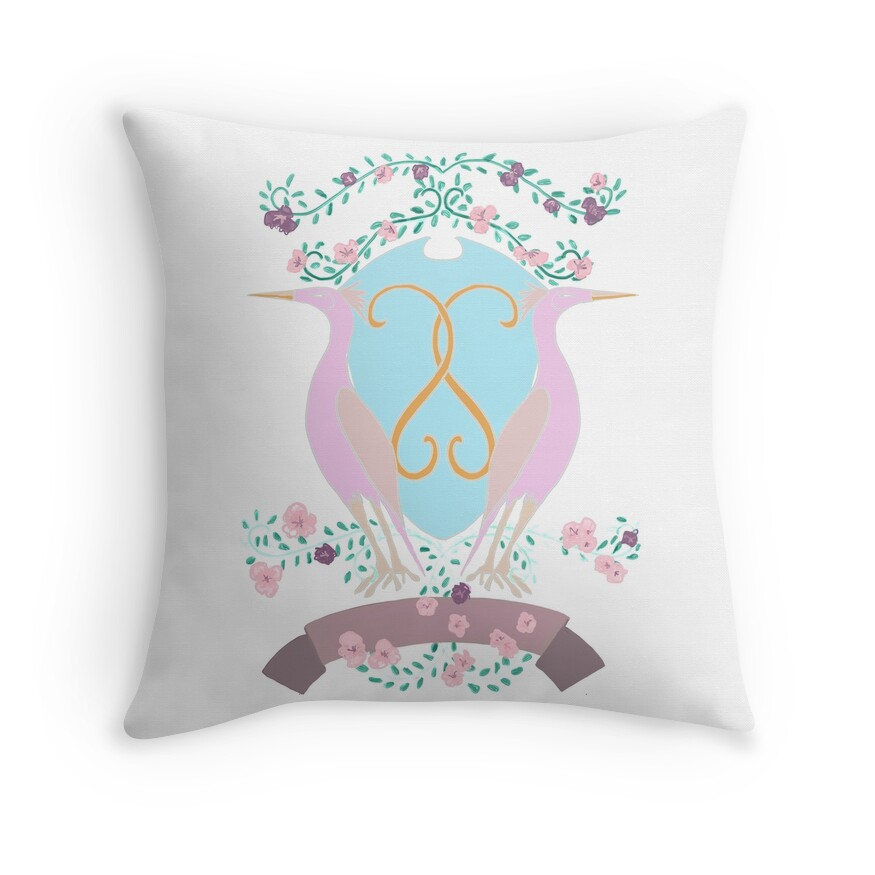 Crest with Cranes in Pastel Lilac