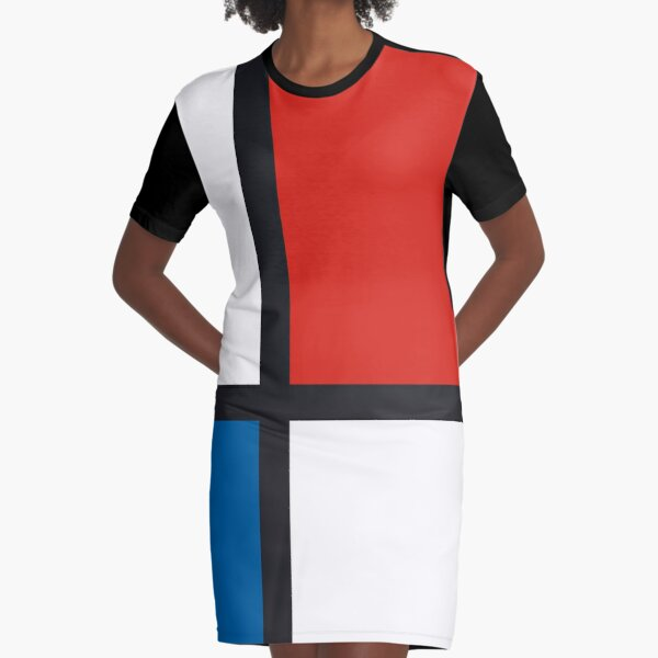 Piet Mondrian 1930 Composition II in Red, Blue, and Yellow Style, Artwork, Men, Women, Kids, Bags, Posters, Prints, Tshirts Graphic T-Shirt Dress