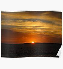 Sunset 2- Queenscliffe Victoria Poster