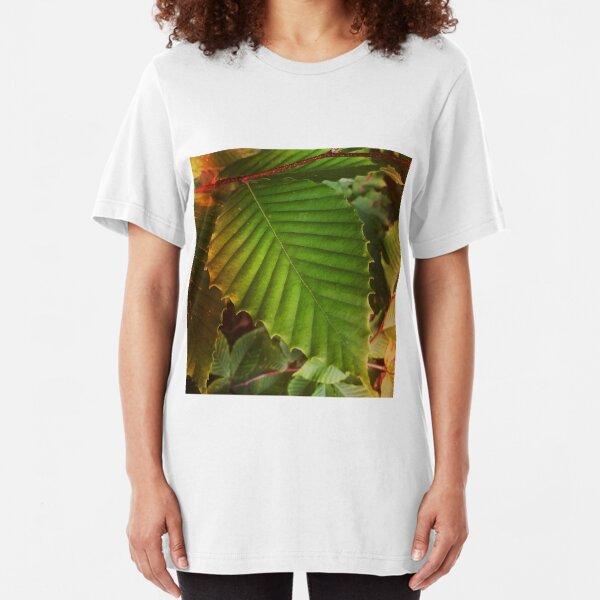 Embracing Nature's Treasures: Leaves Slim Fit T-Shirt