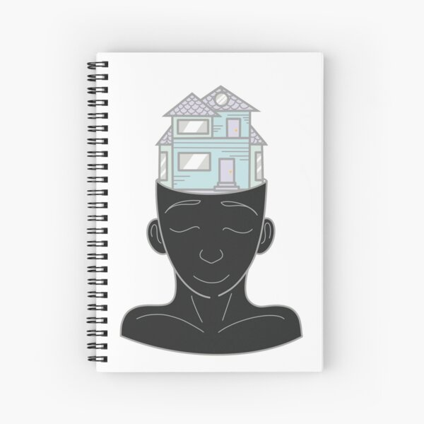 Inner World Design - Gray Spiral Notebook