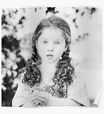 Little Miss in B&W Poster