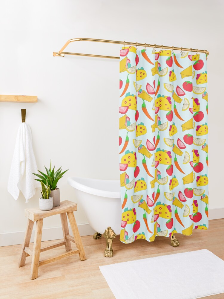 Alternate view of Burraco Fest Shower Curtain