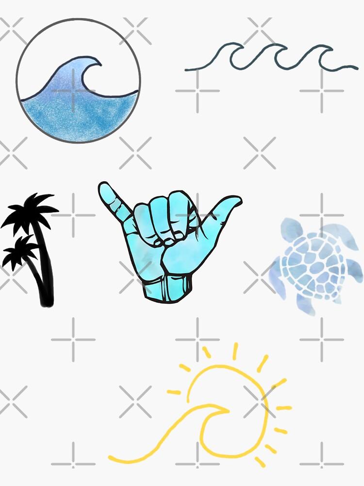 Beach Sticker Pack by JuliesDesigns