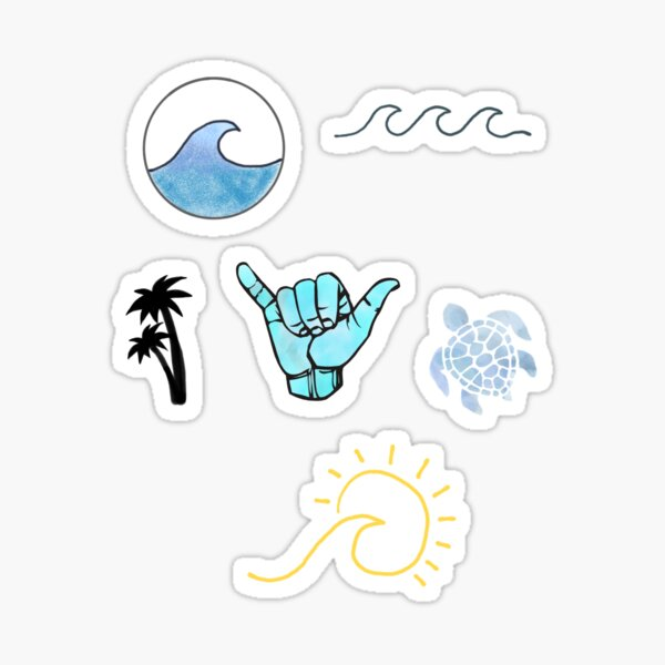Pack d'autocollants de plage Sticker