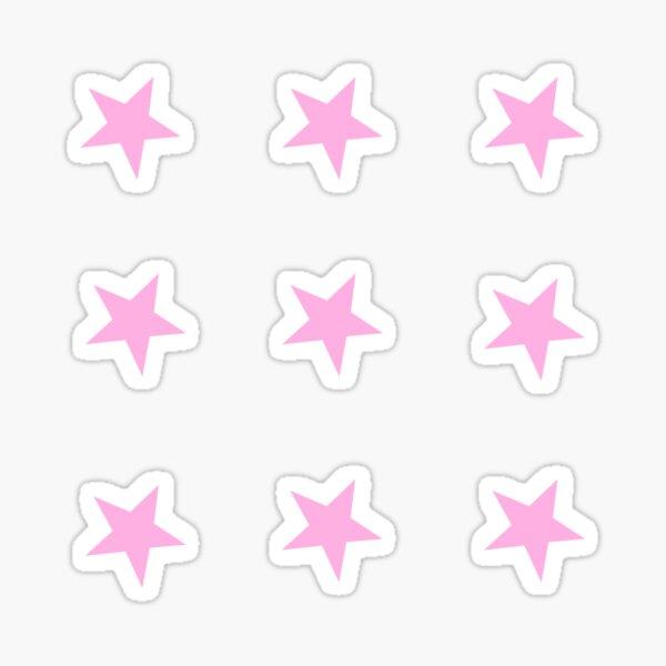 mini pink star stickers Sticker