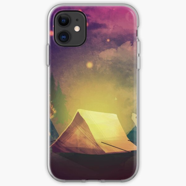 Night in the forest iPhone Soft Case