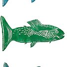 Tropical Fish Print by Pippasprintshop