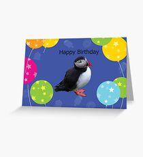 Puffin Birthday Card Greeting Card