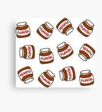 Cute Tumblr Nutella Pattern Canvas Print