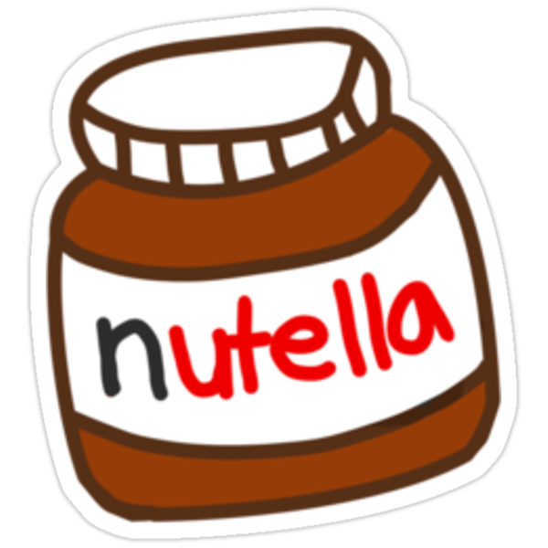 cute tumblr nutella pattern stickers by deathspell. Black Bedroom Furniture Sets. Home Design Ideas