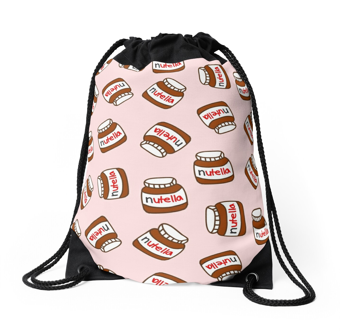 Cute Tumblr Nutella Pattern Drawstring Bags By Deathspell