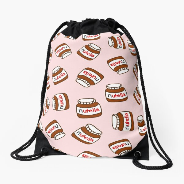 Cute Tumblr Nutella Pattern Drawstring Bag