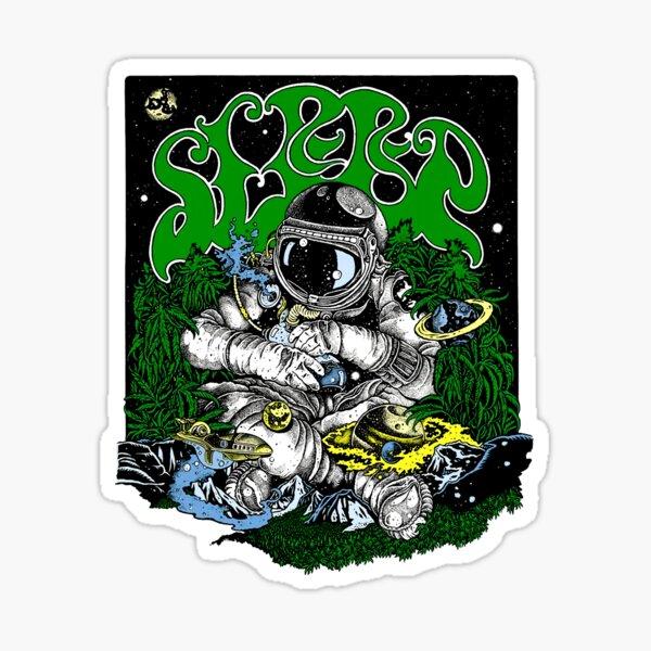 Sleep metal sludge stoner band - The Marijuanaut [Purple] Sticker