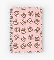 Cute Tumblr Nutella Pattern Spiral Notebook