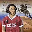 Aleksandr Sergeevic Puskin -  The Iron footballer by pupazzaro