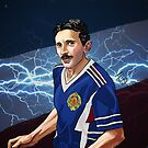 Nikola Tesla. The lightning before the goal by pupazzaro