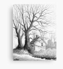 Winter Moments - Conté Drawing Canvas Print