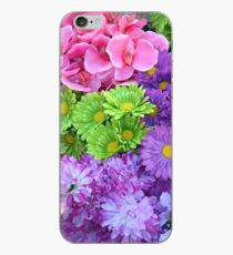 Colorful spring flowers iPhone Case