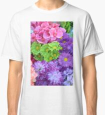Colorful spring flowers Classic T-Shirt
