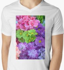 Colorful spring flowers Men's V-Neck T-Shirt