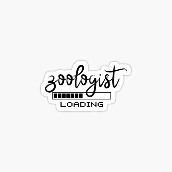 Zoologist Loading Sticker