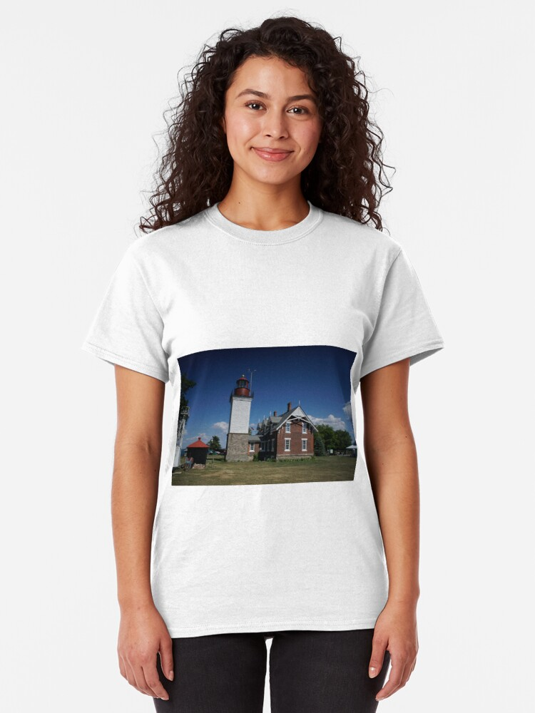 Alternate view of The Dunkirk Lighthouse Classic T-Shirt