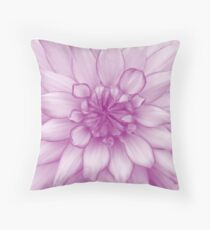 Dahlia Radiant Orchid - JUSTART ©  Throw Pillow