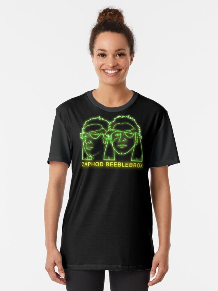 Alternate view of NDVH Zaphod Beeblebrox H2G2 Graphic T-Shirt