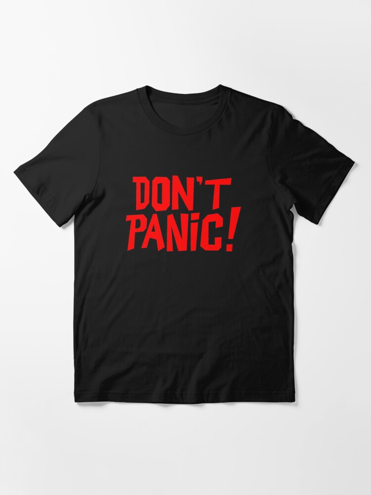Alternate view of NDVH Don't Panic - Red 1 H2G2 Essential T-Shirt
