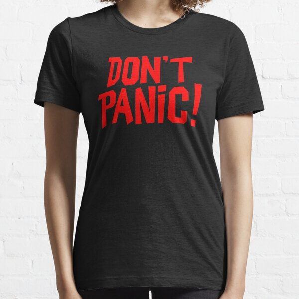 NDVH Don't Panic - Red 1 H2G2 Essential T-Shirt