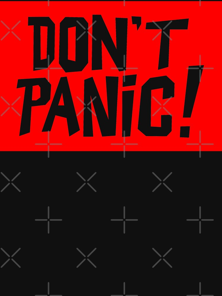NDVH Don't Panic - Red 2 H2G2 by nikhorne