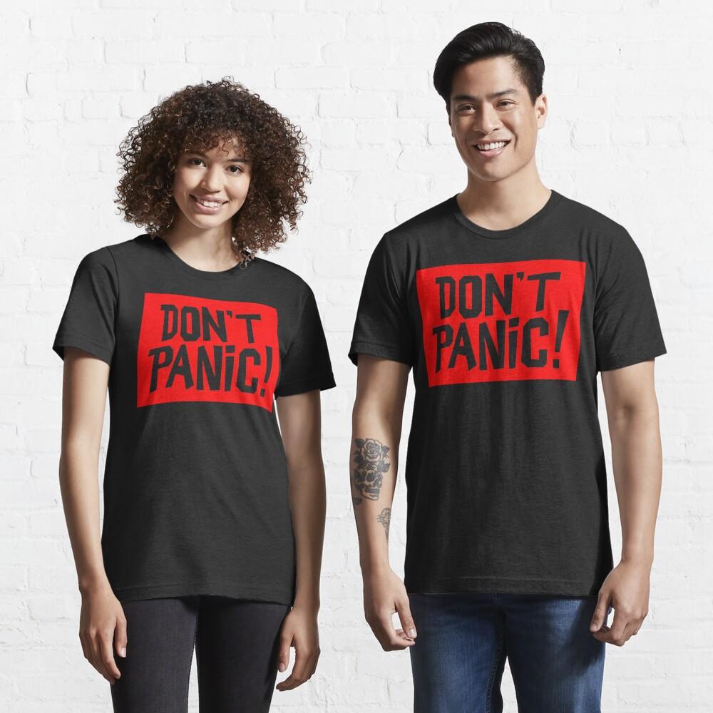 NDVH Don't Panic - Red 2 H2G2 Essential T-Shirt
