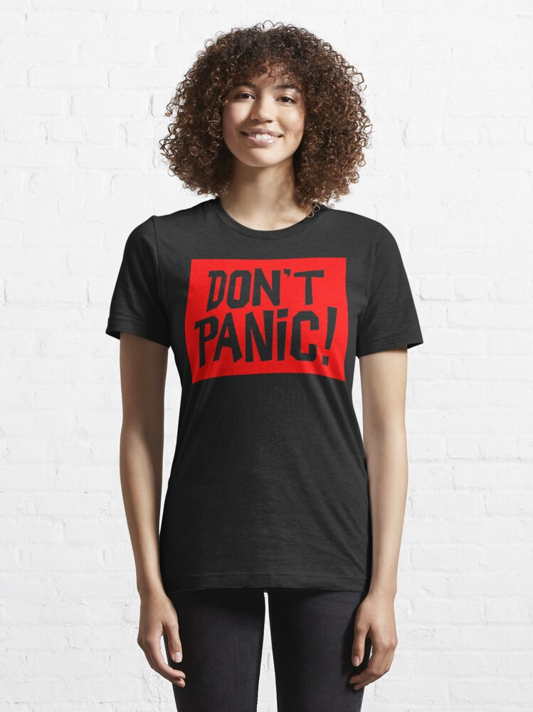 Alternate view of NDVH Don't Panic - Red 2 H2G2 Essential T-Shirt