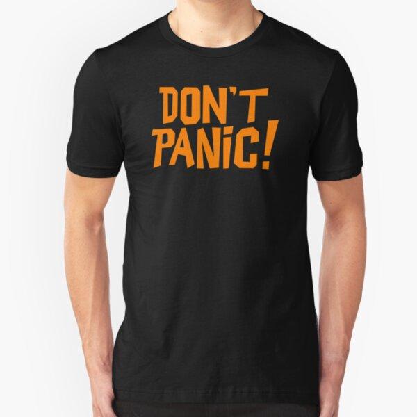 NDVH Don't Panic - Orange 1 H2G2 Slim Fit T-Shirt