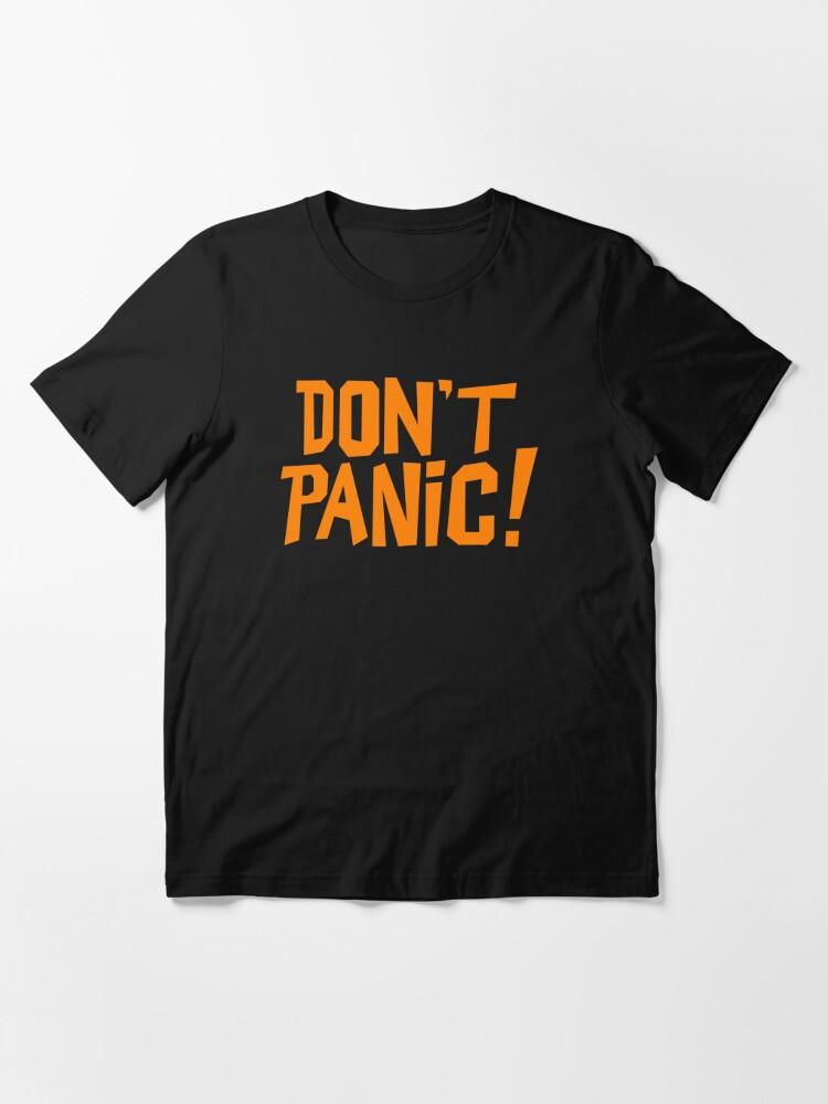 Alternate view of NDVH Don't Panic - Orange 1 H2G2 Essential T-Shirt