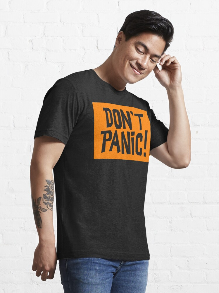 Alternate view of NDVH Don't Panic - Orange 2 H2G2 Essential T-Shirt