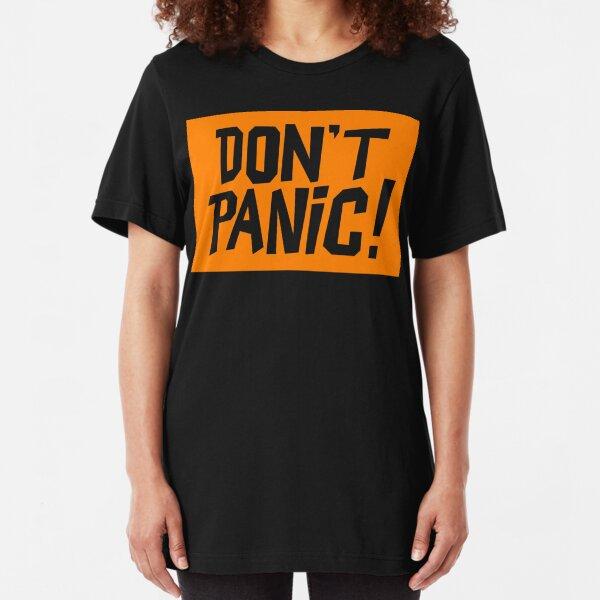 NDVH Don't Panic - Orange 2 H2G2 Slim Fit T-Shirt