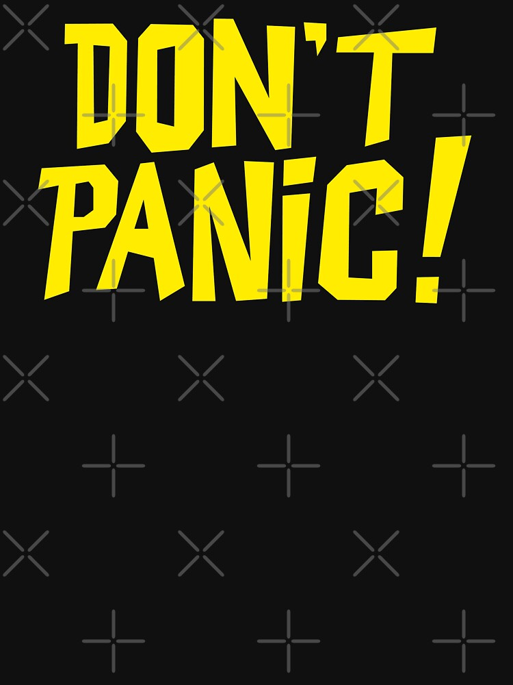 NDVH Don't Panic - Yellow 1 H2G2 by nikhorne