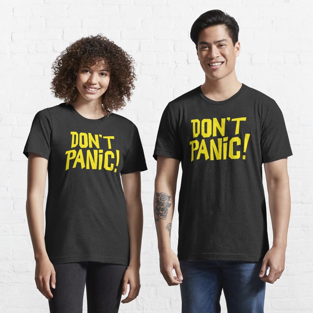 NDVH Don't Panic - Yellow 1 H2G2 Essential T-Shirt