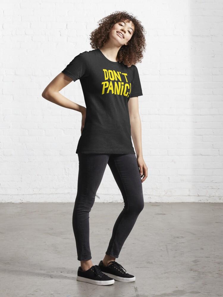 Alternate view of NDVH Don't Panic - Yellow 1 H2G2 Essential T-Shirt
