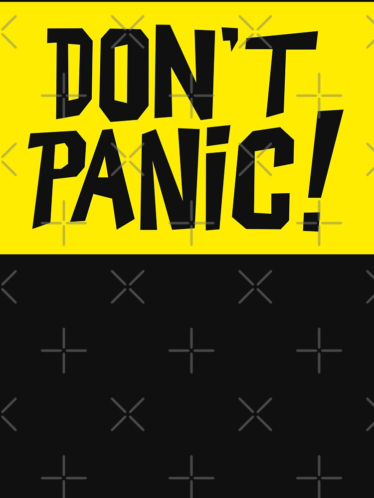 NDVH Don't Panic - Yellow 2 H2G2 by nikhorne