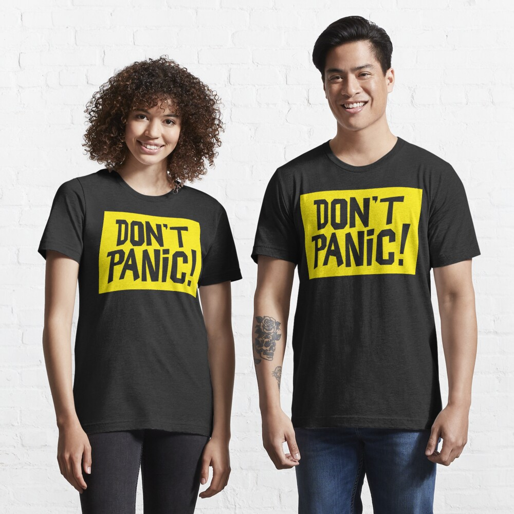 NDVH Don't Panic - Yellow 2 H2G2 Essential T-Shirt